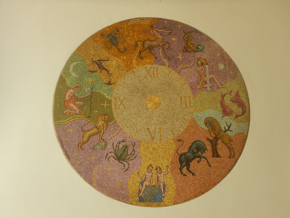 I found this beautiful mosaic in a bank!
