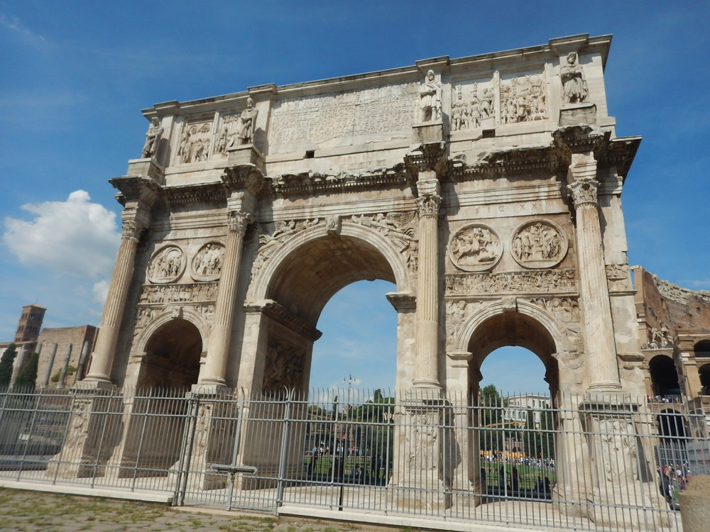 Huge archway in the nearby Forum