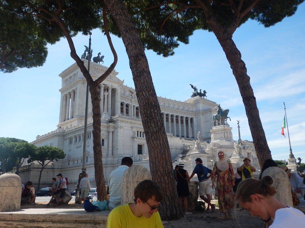 piazza Venezia from the nearby park.
