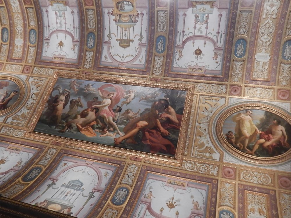 the ceilings, to me were more magnificent than in the Sistine chapel. Yikes!  Hope I don't get into trouble for saying that.
