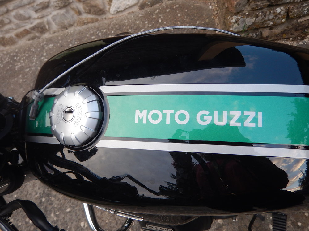 After the first workshop there was time for me to register and get my accom sorted. There were three Guzzi's parked outside the lodge. Unusual choice for an adventure bike, I thought.