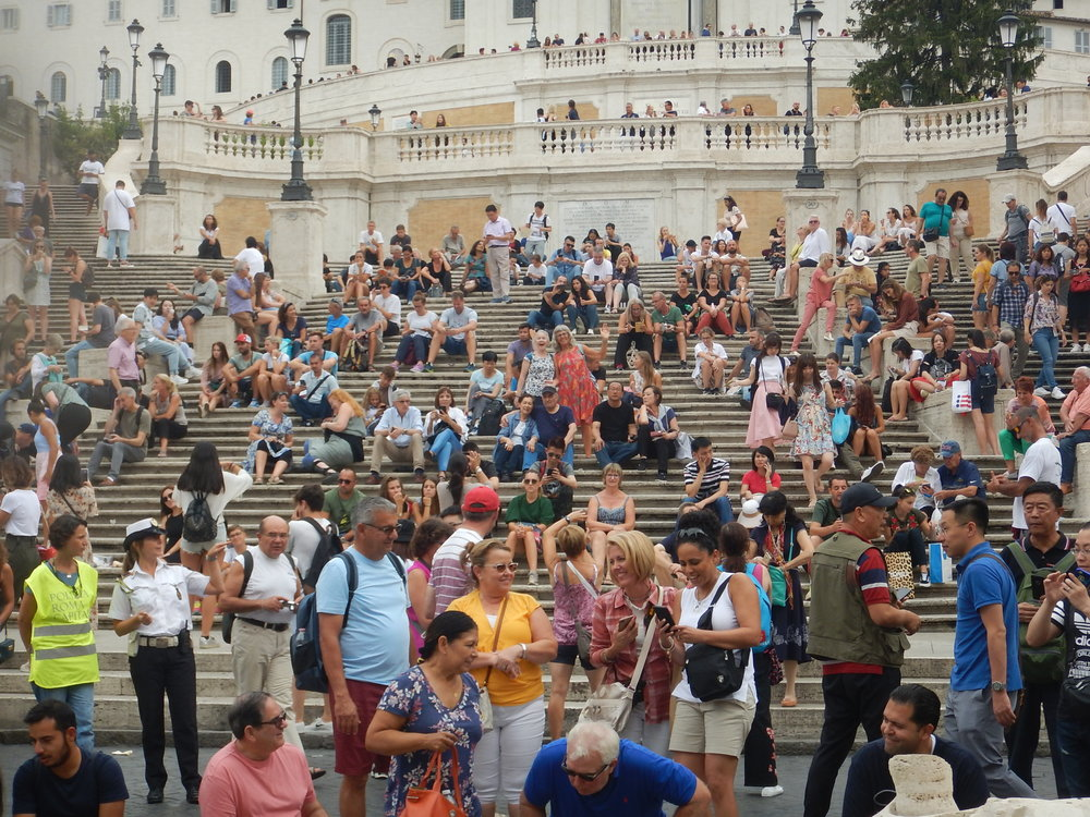 Spanish Steps in Rome. Can you See margot and I.