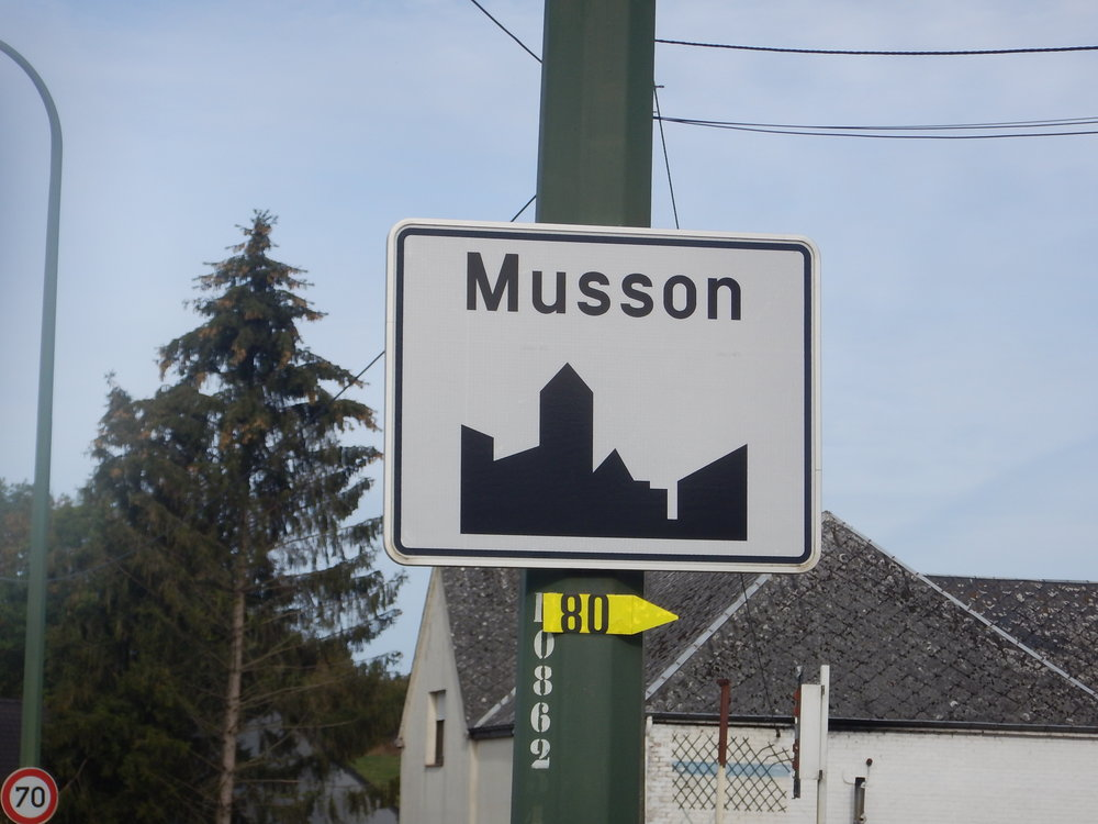 Town signs were quite different.