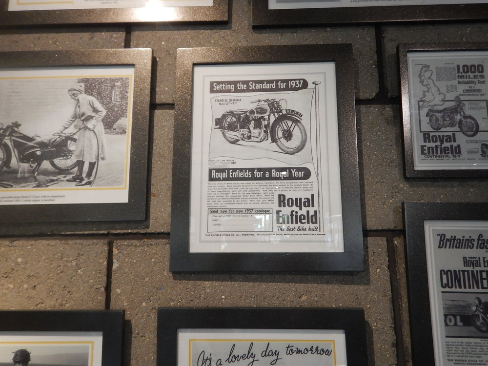 A great display of old RE ads and news articles on the wall. I certainly enjoyed my visit.