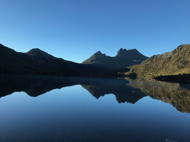 early morning at Dove Lake, always good for reflections.