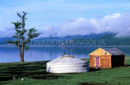 Lake Khuvsgul in Mongolia. Hopefully I'll be able to add my own photo later in the year.