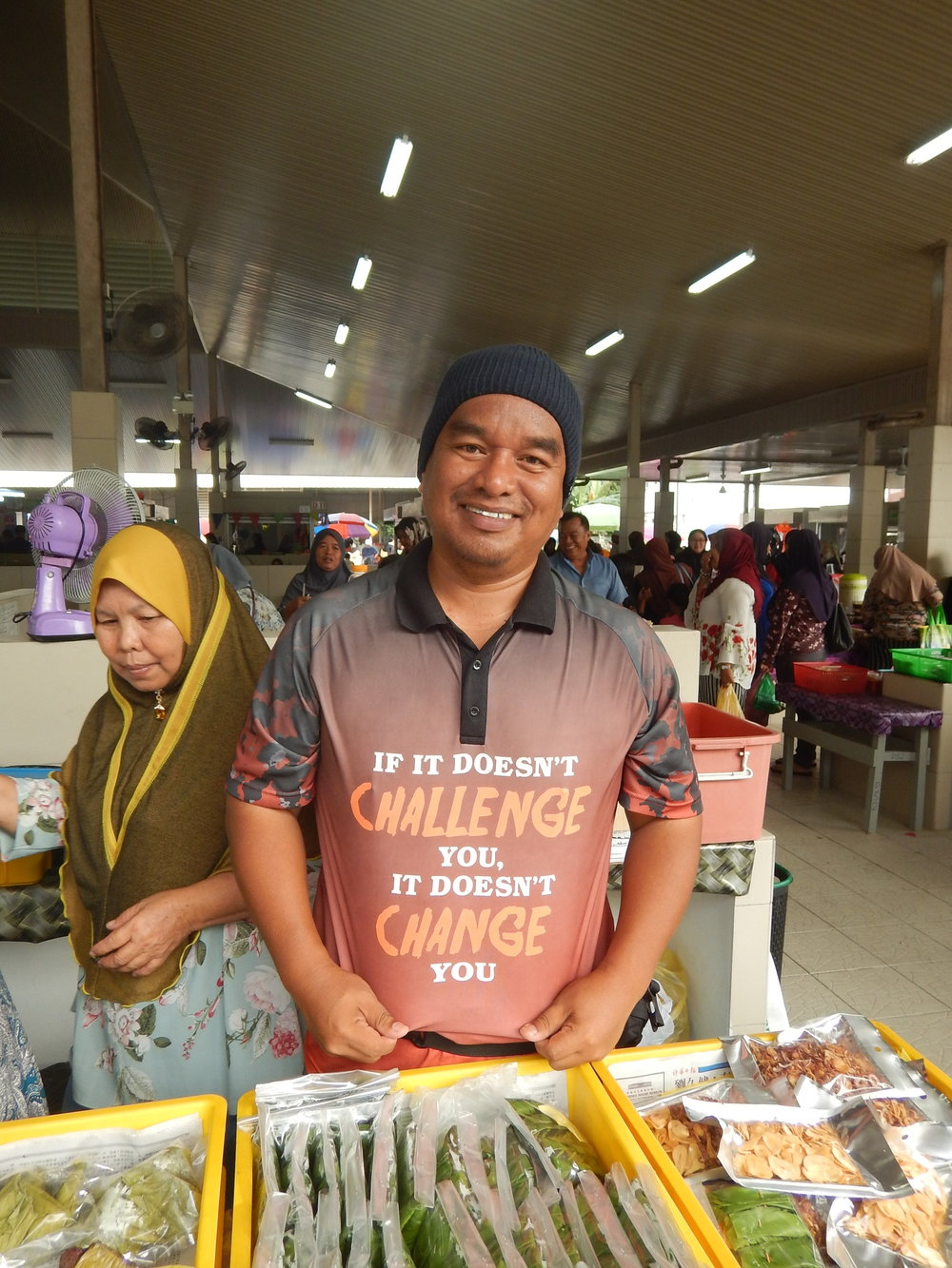 Stall holder in Brunei