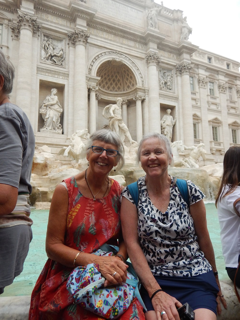 By the Trevi Fountain after I'd thrown all my money into the fountain in the hope of bringing some luck to the electrical woes I was having with the bike. it worked! One week later I was back on the road, but no time to head south to Malta, hence my request to Margot.