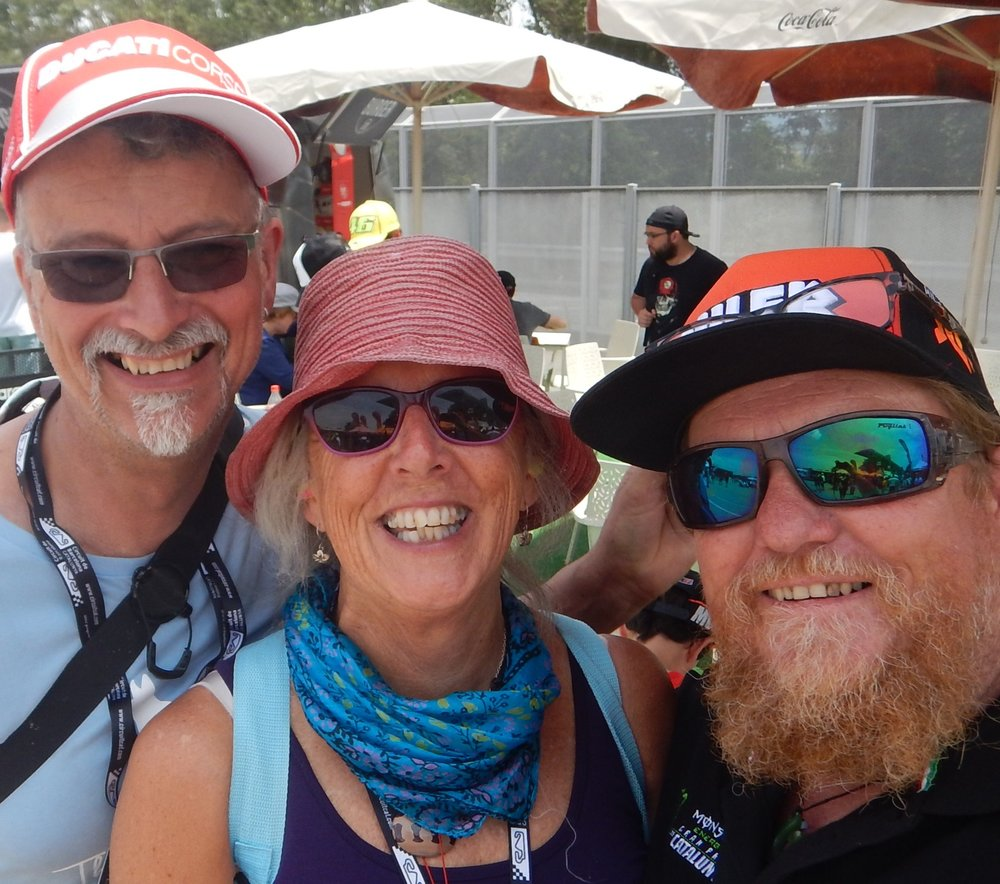 My Aussie mates DR Rob from Hobart and Adrian ( sporting his new Jack Miller cap) from Mildura.