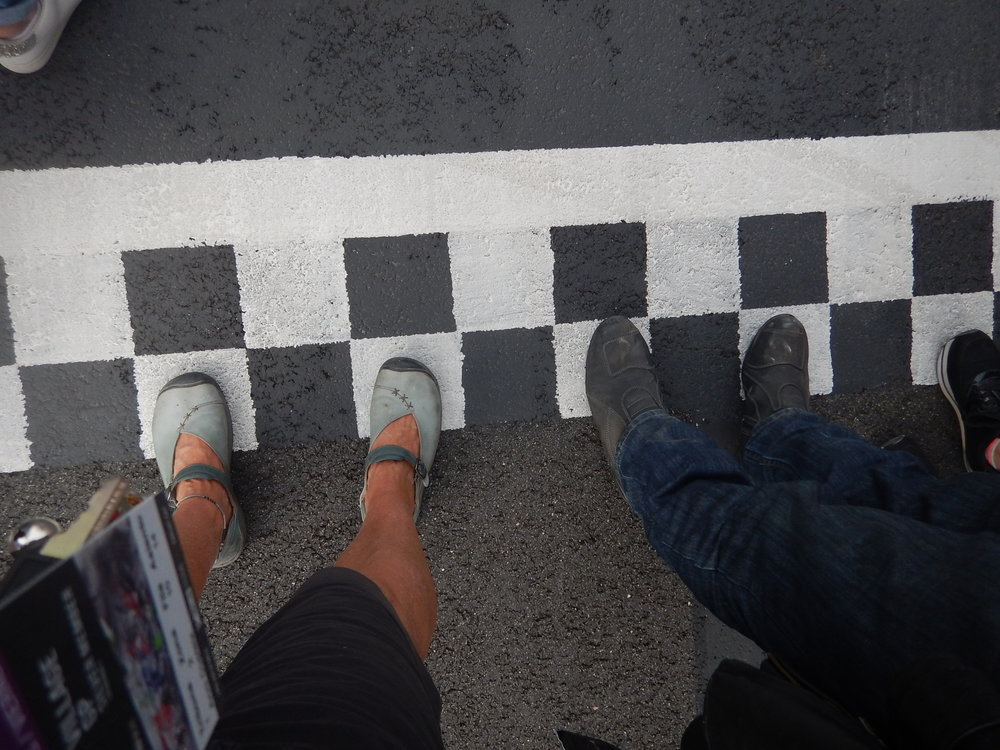 Start finish line at Barcelona MotoGP race track