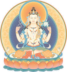 Prayers are made to Buddha Avalokiteshvara, Buddha of compassion,  on behalf of those who have recently deceased