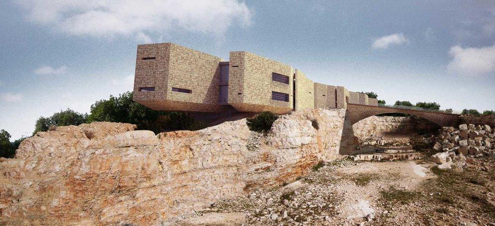 Royal Academy for the Conservation of Nature, Ajloun Forest Reserve, Jordan. Image courtesy Khammash Architects