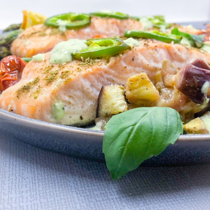 Zaatar Roasted Salmon and Vegetables