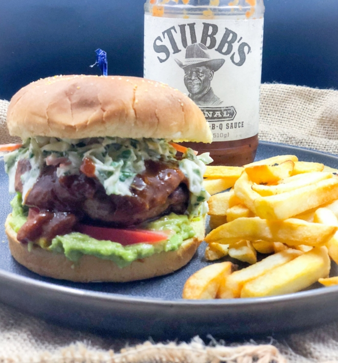 Curried BBQ Turkey Burger with Herb Slaw