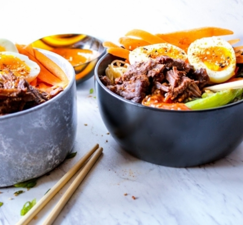 Instant Pot Beef and Noodle Bowl