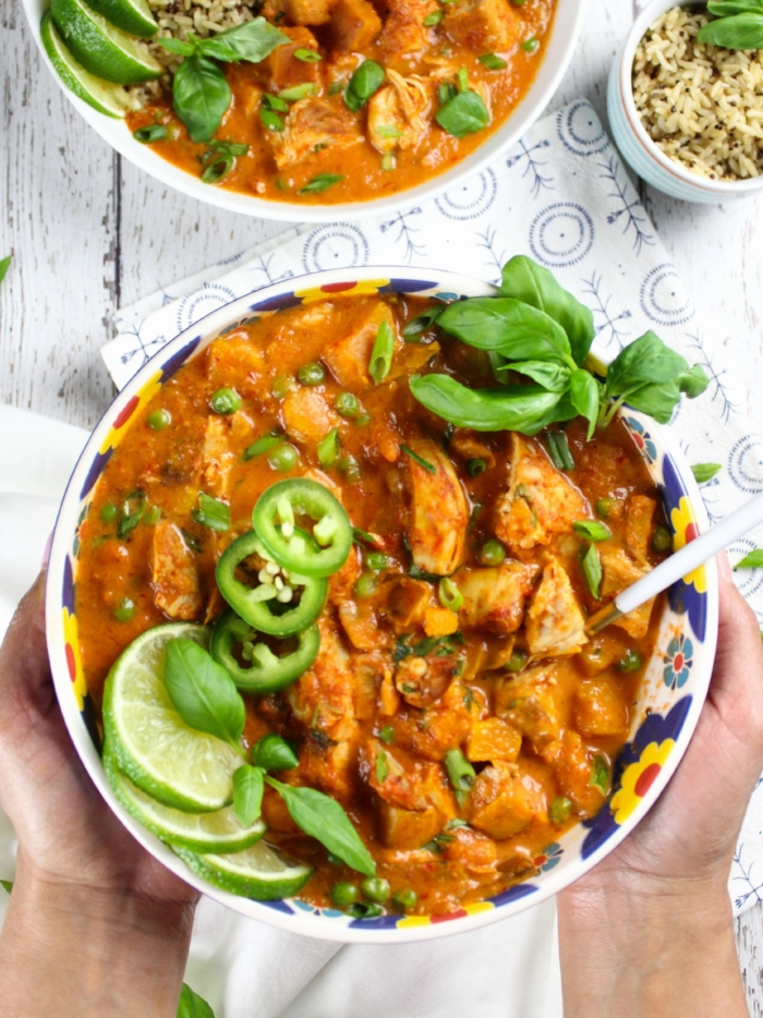 Instant Pot Sweet Potato Chicken Coconut Curry
