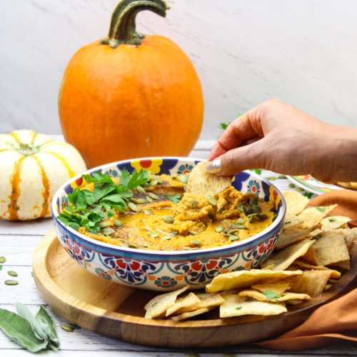 Homemade Easy Pumpkin Hummus