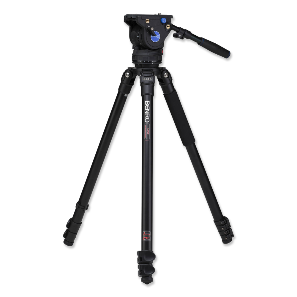 Benro BV6 Tripod  -  Amazon    Great fluid head tripod. Works with small camera setups as well as larger cameras/rigs.