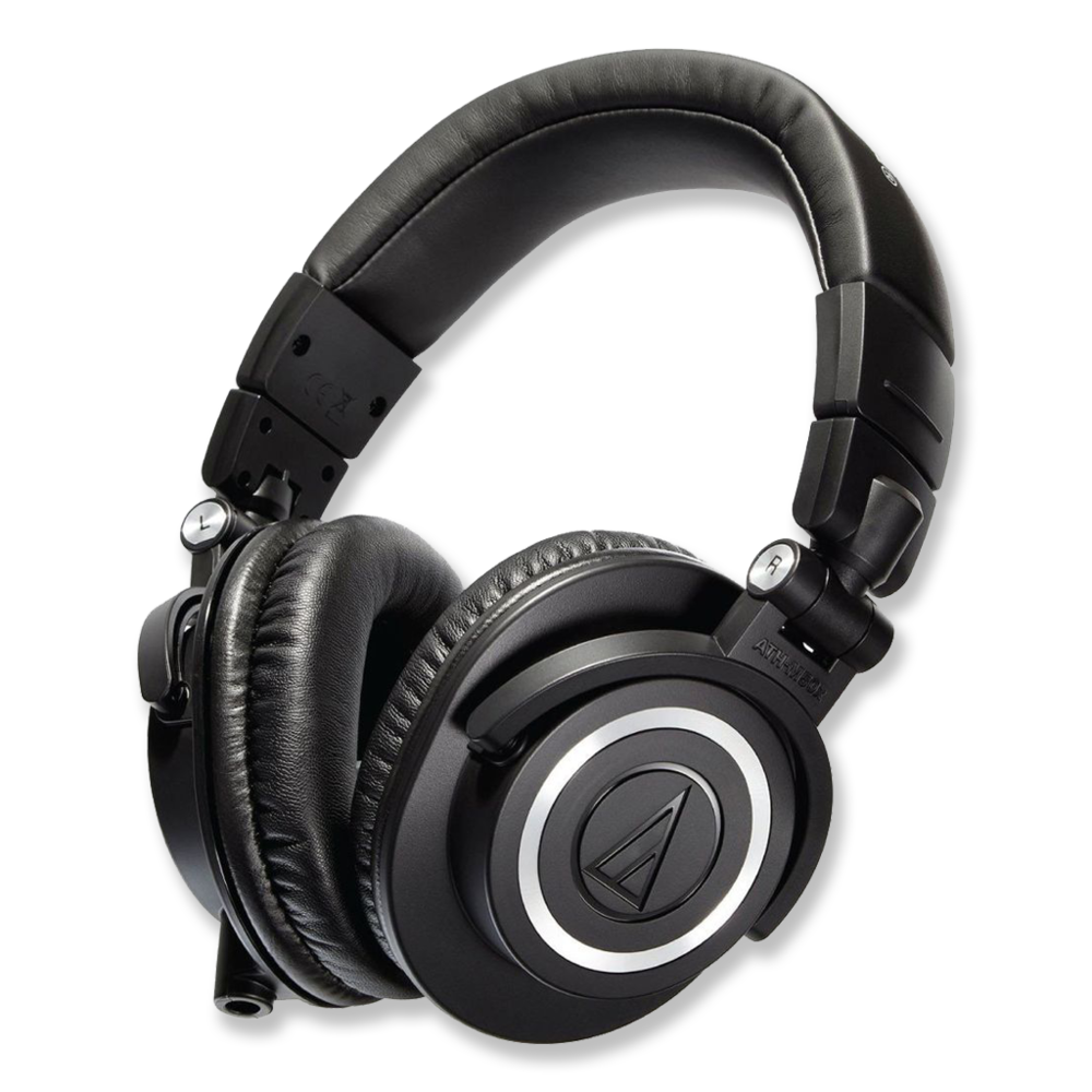 Audio-Technica ATH-M50x Headphones -  Amazon   Great studio monitors for listening to your audio in the recording and mixing processes.