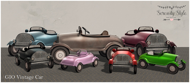 Serenity Style - Geo vintage car gacha display - Shiny Shabby.jpg