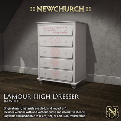 NEWCHURCH l'amour-dresser 88L$(50%OFF).png