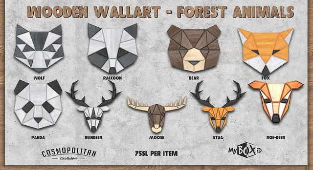 MyBoxID - Wooden Wallart Forest Animals - Cosmo.jpg