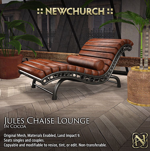Newchurch - Jules Chaise Lounge Cocoa - We heart Roleplay.jpg