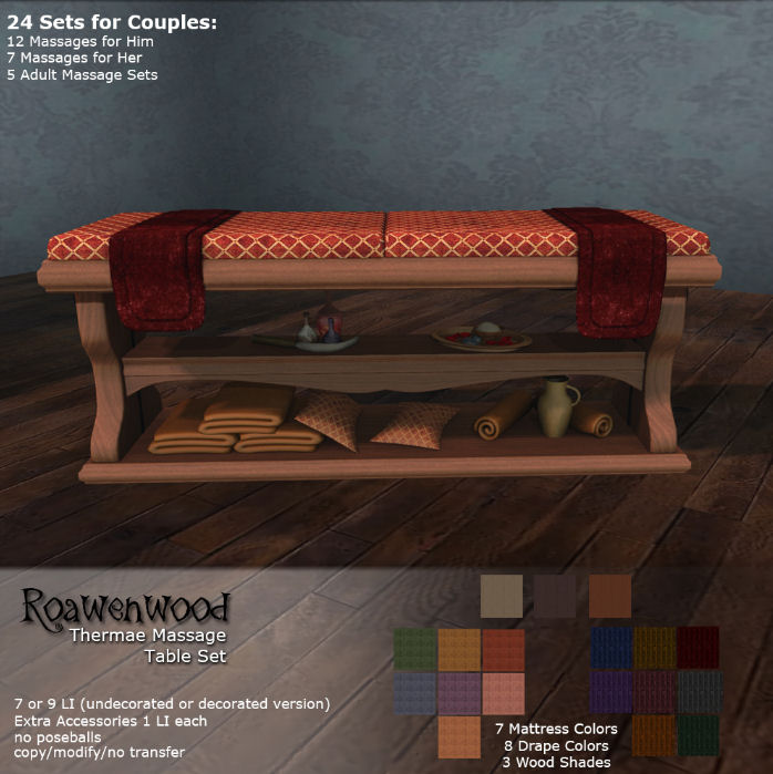 Roawenwood - Thermae Massage Table Set - We heart Roleplay.jpg