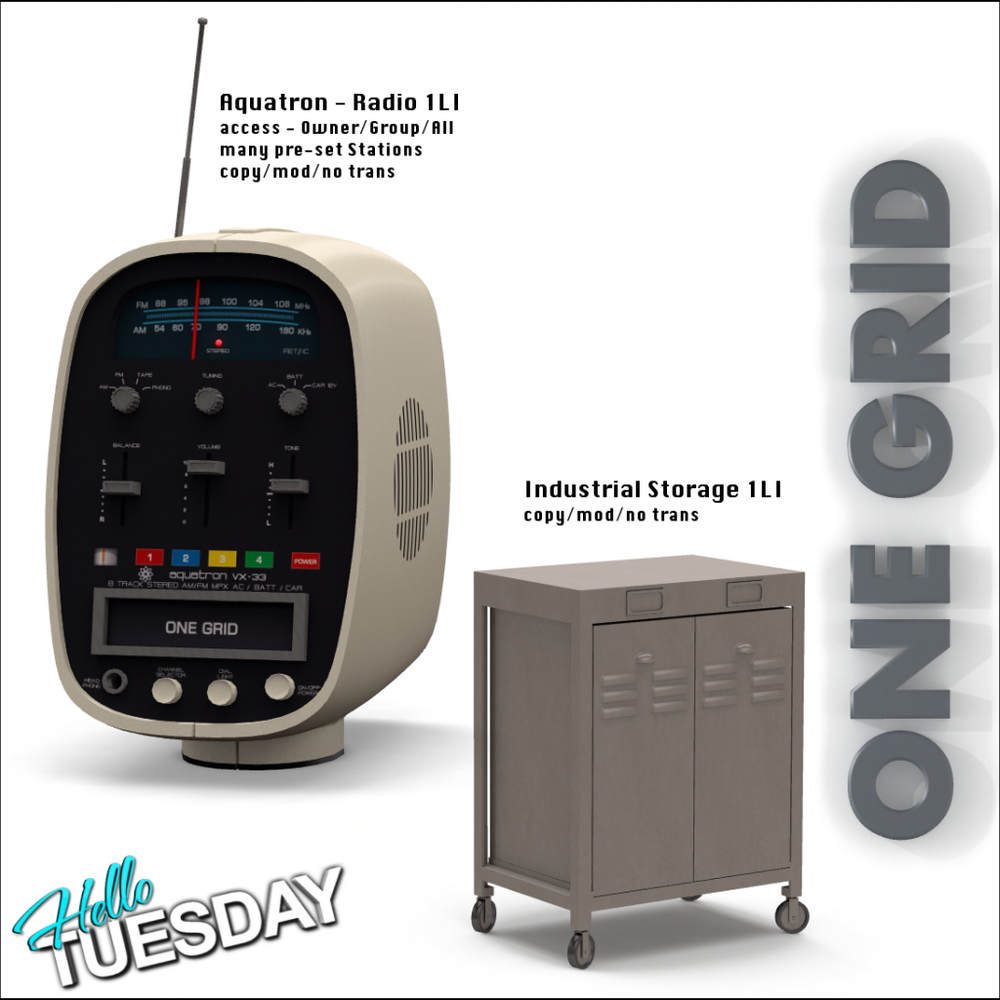ONE GRID - Aquatron Radio 125L$ _ Table 25L$ (50%OFF).png