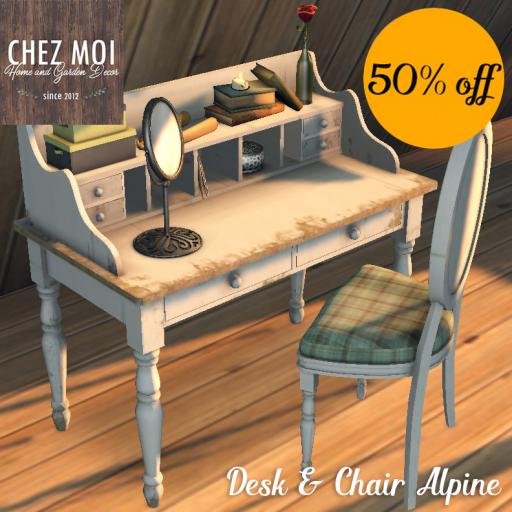 23022018 Desk & Chair Alpine 50% OFF CHEZ MOI.jpg