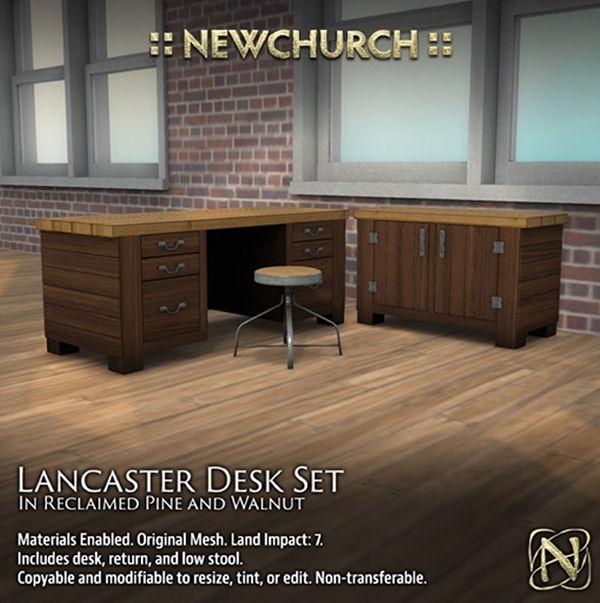 Newchurch - Landcaster Desk - pine walnut - Cosmopolitan Event.jpg