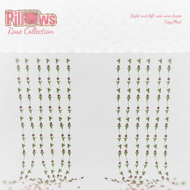 Pillows - rose vine drapes - SaNaRae.jpg