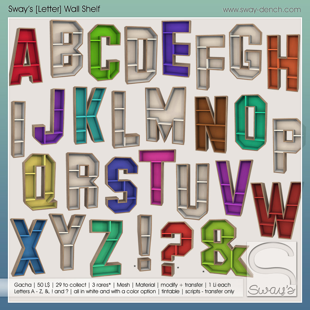 Sway's - [Letter]-wallshelf gacha - Arcade.jpg
