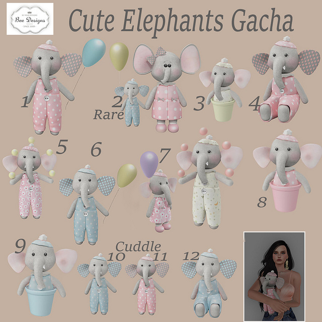 Bee Designs - Cute Elephant gacha - the chapter four event.jpg