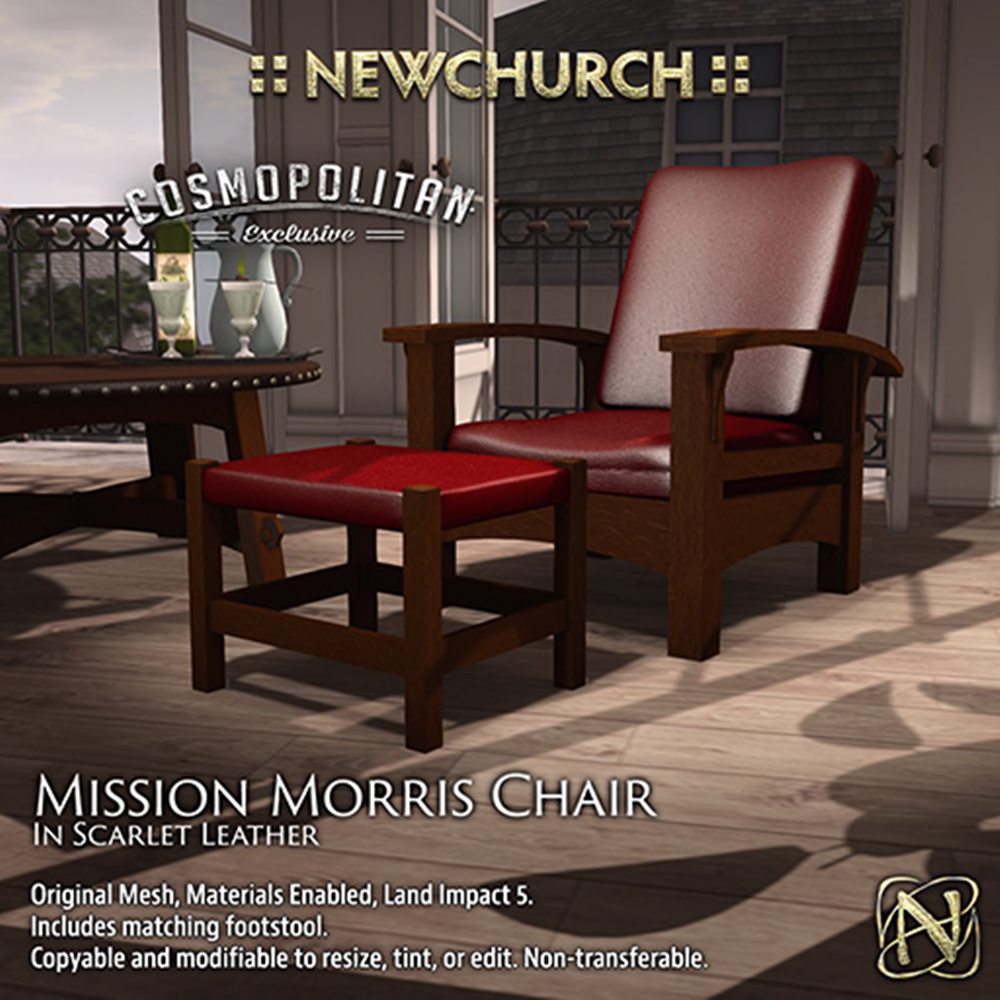 NEWCHURCH morris chair ad leather scarlet 163L$(50%OFF).png
