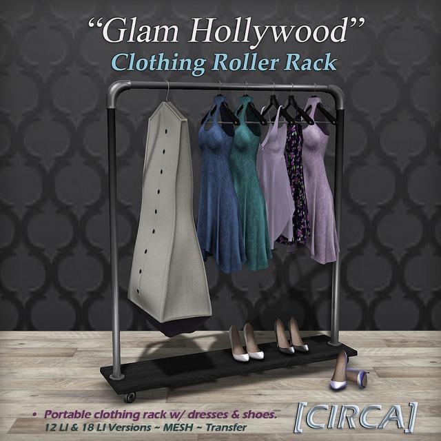 Circa - Glam Hollywood clothing roller rack - SWANK.jpg