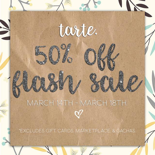 TARTE. - 50 percent sale - 14th - 18th March 2018.jpg