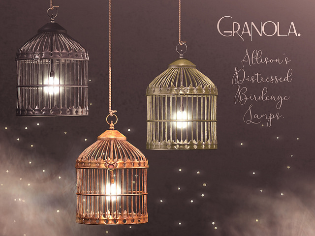 Granola. - Allison's Distressed Birdcage Lamps - The Clique.jpg