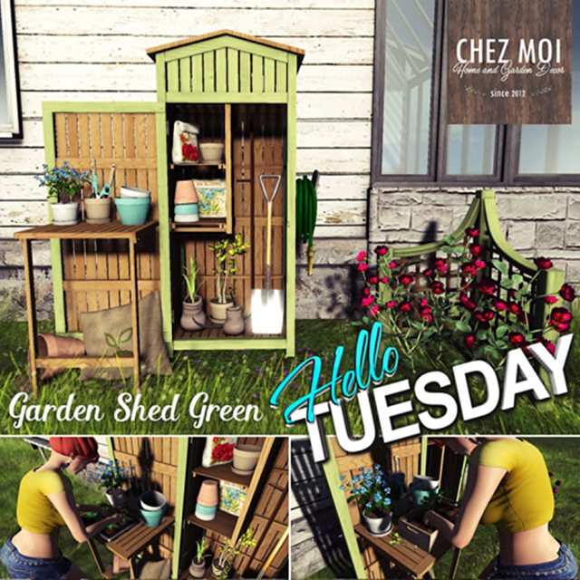 Chez Moi  Garden Shed Green  175L$(50%OFF).jpg