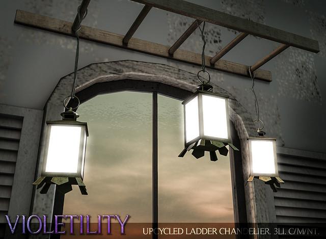 violetility - upcycled ladder chandelier - tss.jpg