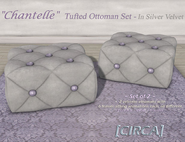 Circa Living - Chantelle Tufted Ottoman Silver Scroll - SWANK.jpg