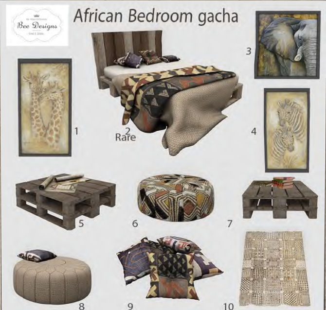 Bee Designs - African Bedroom gacha - ULTRA.jpg