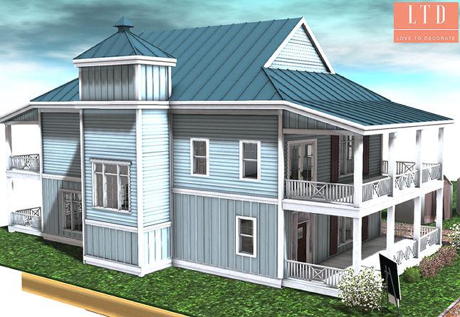 Galland Homes - Cape Hatteras Side elevation - ULTRA.jpg