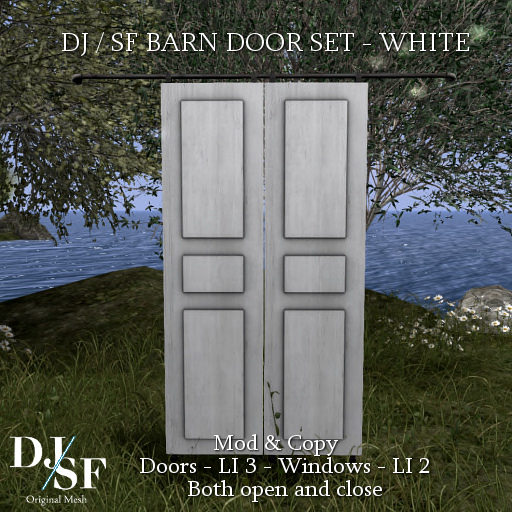 DJ - SF - Barn Door set White - Shiny Shabby.png