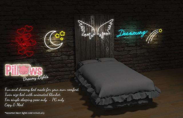 Pillows - Dreamy Lights Bed - SaNaRae.jpg