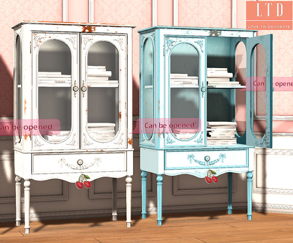 Cherry House - Vintage Bookcase1 - SaNaRae.jpg