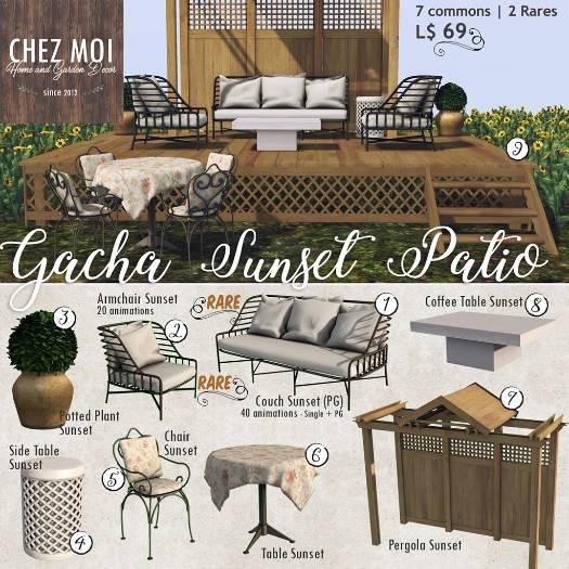 Chez Moi - Sunset Patio gacha - The Gacha Garden May 1st.jpg