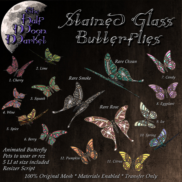 The Half Moon Market - Stained Glass Butterflies - Gacha Garden.jpg