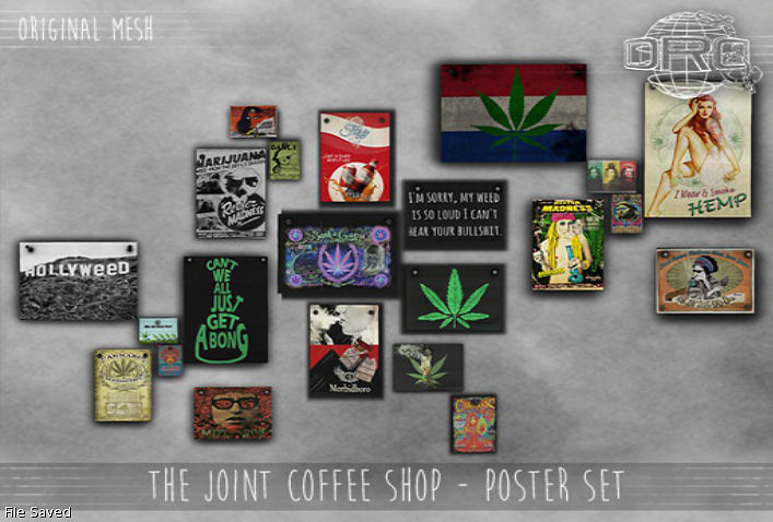 DRD - The Joint Coffee Shop Poster Set - Saturday Sale.jpg