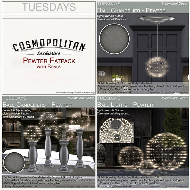 Tuesdays - Porcelain and Pewter Lights 2 - Cosmopolitan.jpg
